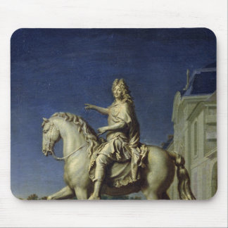 Transporting the Equestrian Statue of Louis Mouse Pad