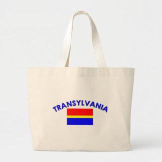 Transylvania Flag (w/inscription) Large Tote Bag