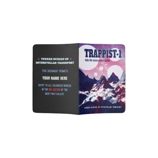 Trappist-1 Retro Space Cruise Passport Holder