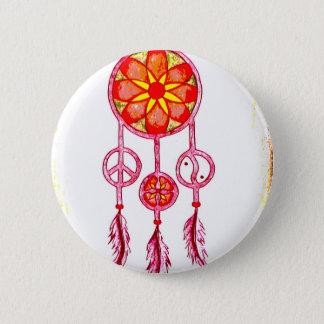 Traumfänger orange 6 cm round badge