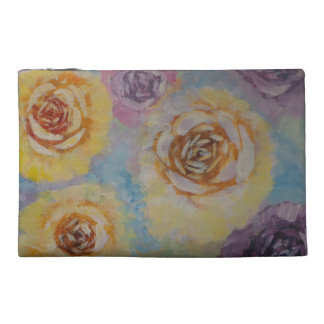 Travel accessory bag with roses
