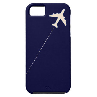 travel airplane with dotted line iPhone 5 cover