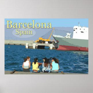 Travel Barcelona, Spain Poster
