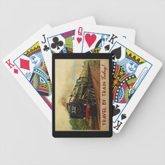 Travel By Train Bicycle Playing Cards