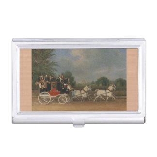 Travel in England, 1835. Business Card Holder