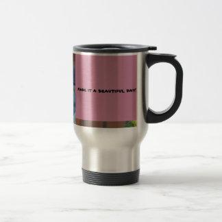 travel mug with happy quote