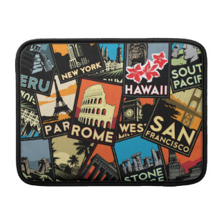 Travel posters retro vintage europe asia usa sleeve for MacBook air