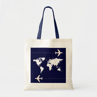 travel the world tote bag