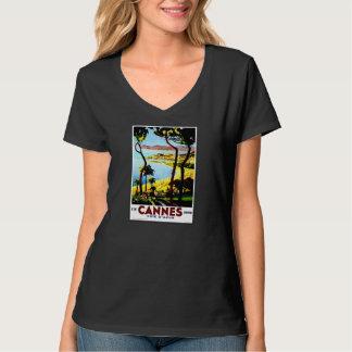 Travel Vintage Poster Cannes France T-Shirt