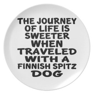 Traveled With A Finnish Spitz Life Partner Plate