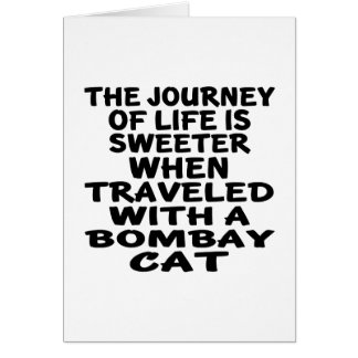 Traveled With Bombay Cat Card