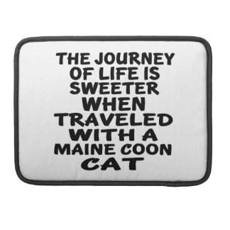 Traveled With Maine Coon Cat MacBook Pro Sleeves
