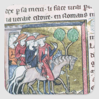 Travellers, from the Roman de Jules Cesar Square Sticker