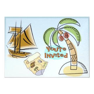 Treasure Island 13 Cm X 18 Cm Invitation Card