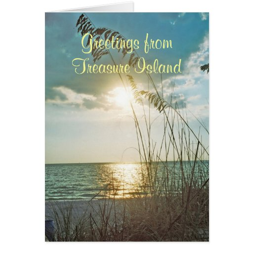 Treasure Island Greeting Card