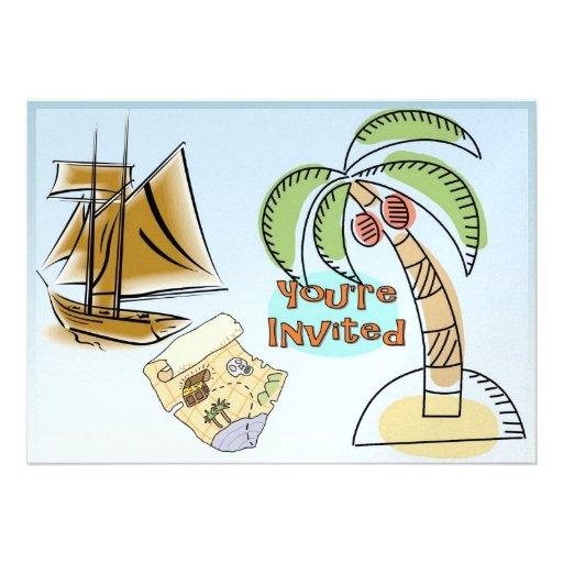 Treasure Island Personalized Invitations