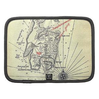 """Treasure Island Map"" Folio Planners"