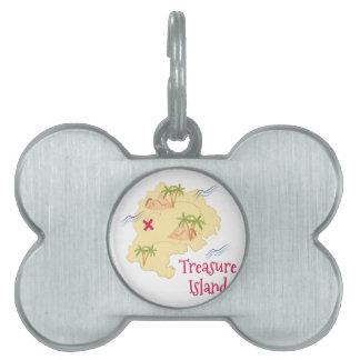 Treasure Island Pet ID Tag