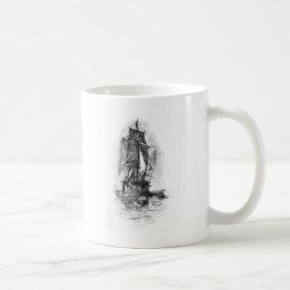 Treasure Island Pirate Ship Basic White Mug