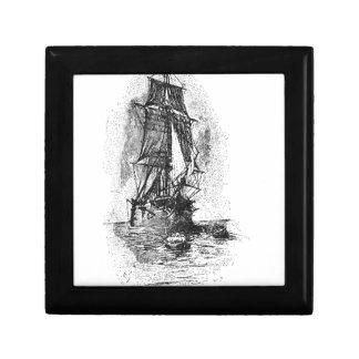 Treasure Island Pirate Ship Trinket Box