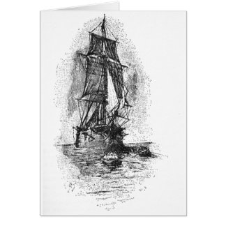 Treasure Island Pirate Ship Greeting Card