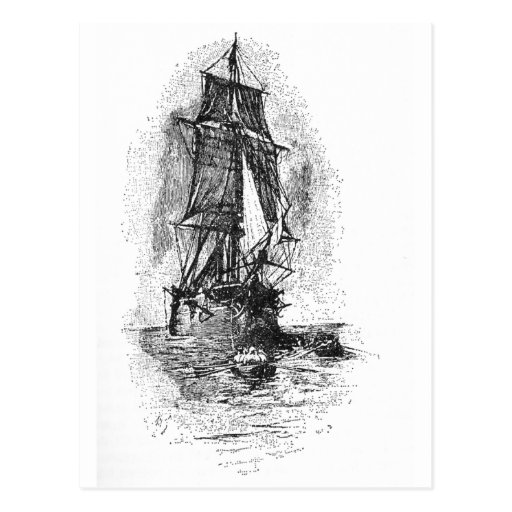 Treasure Island Pirate Ship Postcards