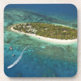 Treasure Island Resort and boat, Fiji Beverage Coaster