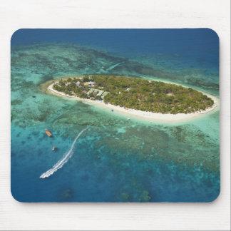 Treasure Island Resort and boat, Fiji Mouse Pad