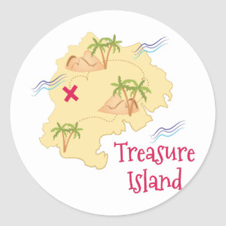 Treasure Island Round Sticker