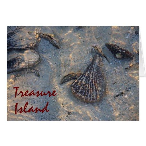 Treasure Island Shells Card