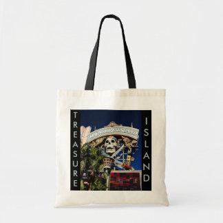 Treasure Island Sign Canvas Bags