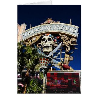 Treasure Island Sign Greeting Card