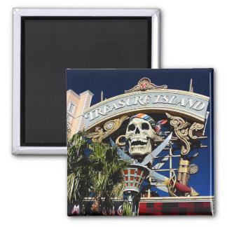 Treasure Island Sign Square Magnet