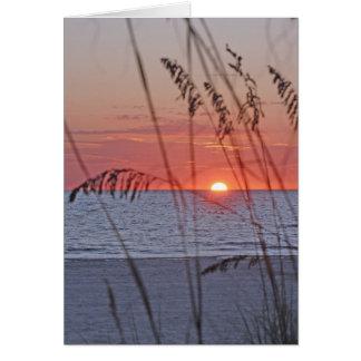 Treasure Island Sunset Note Card