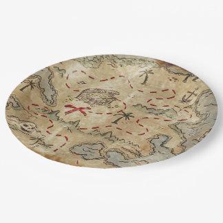 Treasure Map 9 Inch Paper Plate
