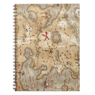 Treasure Map Spiral Note Book