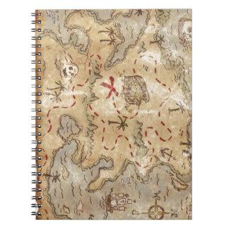 Treasure Map Spiral Note Book