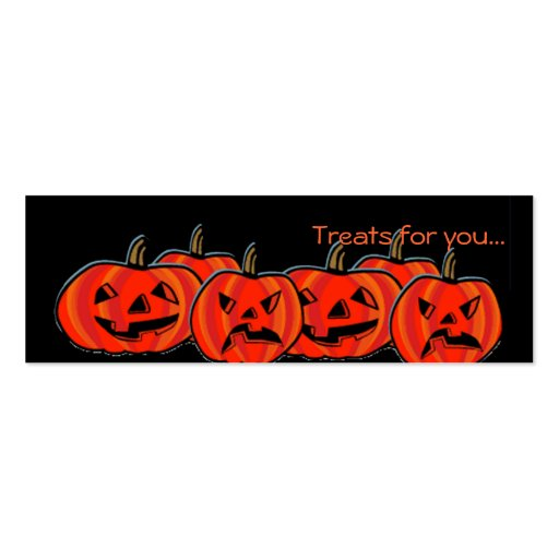 Treat Cards for Halloween goodies Business Card Template