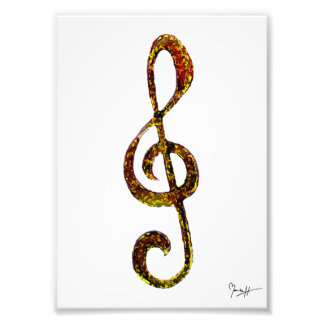 Treble Clef Art - Hand Carved and Digitized Photo Art