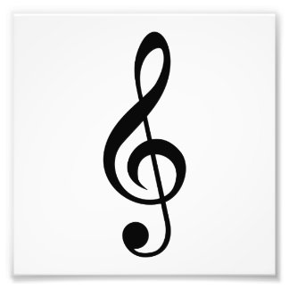 Treble Clef G-Clef Musical Symbol Art Photo