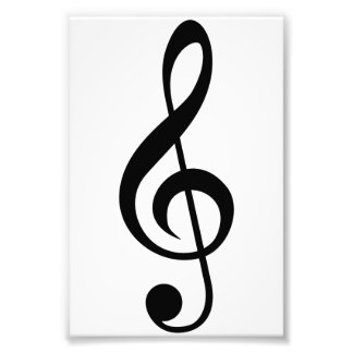 Treble Clef G-Clef Musical Symbol Photographic Print