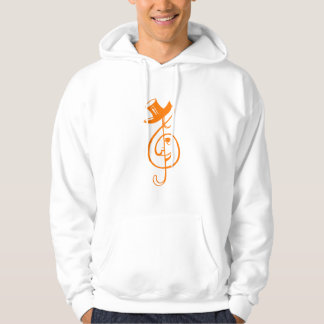 treble orange clef face top hat music design.png hoodie