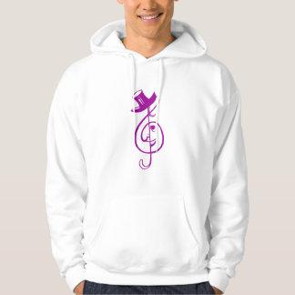 treble purple clef face top hat music design.png hoodie