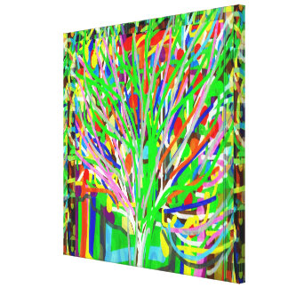 TREE Abstract Lines Art  : Outstanding ColorShades Canvas Print