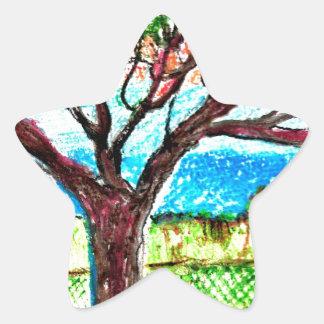 Tree Art Star Sticker