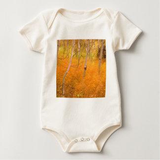 Tree Aspens And Windblown Grasses Idaho Baby Bodysuit