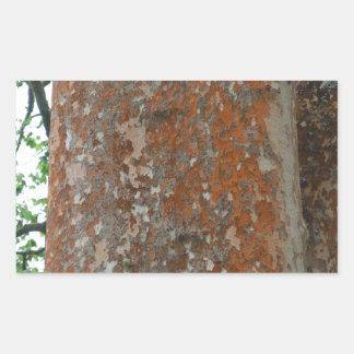 Tree Bark Rectangular Sticker