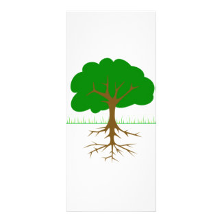 Tree Branches and Roots 10 Cm X 23 Cm Rack Card