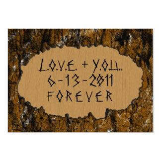 Tree Carving Invite