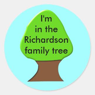 Tree Customizable Family Tree Sticker